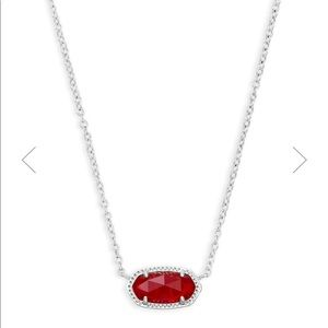 NWT Kendra Scott Elise Necklace in Ruby Red